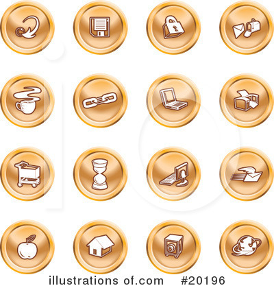 Royalty-Free (RF) Icons Clipart Illustration by AtStockIllustration - Stock Sample #20196