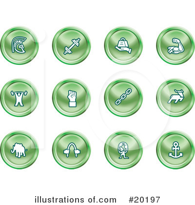 Royalty-Free (RF) Icons Clipart Illustration by AtStockIllustration - Stock Sample #20197