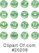 Royalty-Free (RF) Icons Clipart Illustration #20208