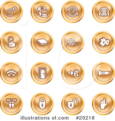Royalty-Free (RF) Icons Clipart Illustration by Geo Images - Stock Sample #20218