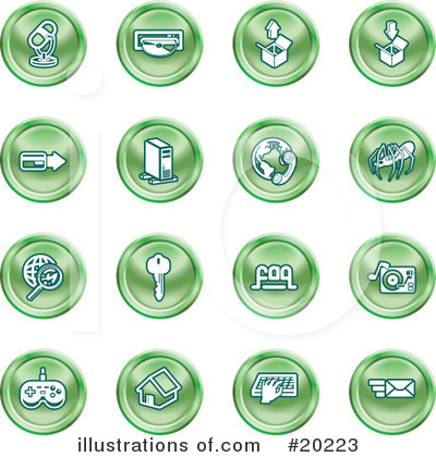 Royalty-Free (RF) Icons Clipart Illustration by AtStockIllustration - Stock Sample #20223