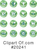 Royalty-Free (RF) Icons Clipart Illustration #20241
