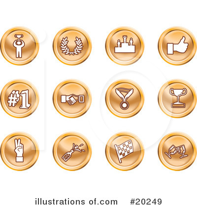 Medals Clipart #20249 by AtStockIllustration