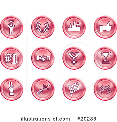 Medals Clipart #20288 by AtStockIllustration
