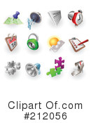 Royalty-Free (RF) Icons Clipart Illustration #212056