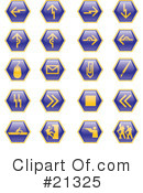 Royalty-Free (RF) Icons Clipart Illustration #21325