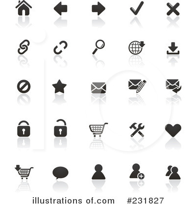 Royalty-Free (RF) Icons Clipart Illustration by TA Images - Stock Sample #231827