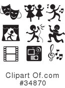 Royalty-Free (RF) icons Clipart Illustration #34870