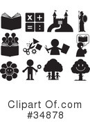 Royalty-Free (RF) Icons Clipart Illustration #34878