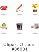 Royalty-Free (RF) Icons Clipart Illustration #36001