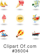 Royalty-Free (RF) Icons Clipart Illustration #36004