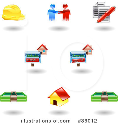 Royalty-Free (RF) Icons Clipart Illustration by AtStockIllustration - Stock Sample #36012