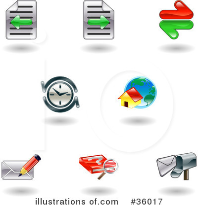 Royalty-Free (RF) Icons Clipart Illustration by AtStockIllustration - Stock Sample #36017