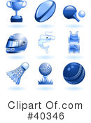 Royalty-Free (RF) Icons Clipart Illustration #40346