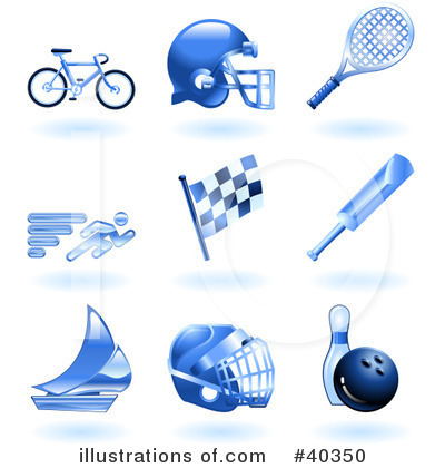 American Football Clipart #40350 by AtStockIllustration