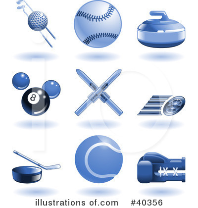 Tennis Ball Clipart #40356 by AtStockIllustration