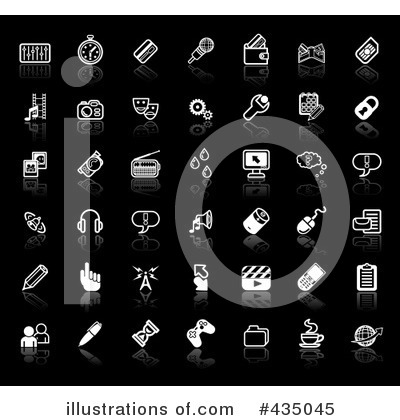 Royalty-Free (RF) Icons Clipart Illustration by AtStockIllustration - Stock Sample #435045