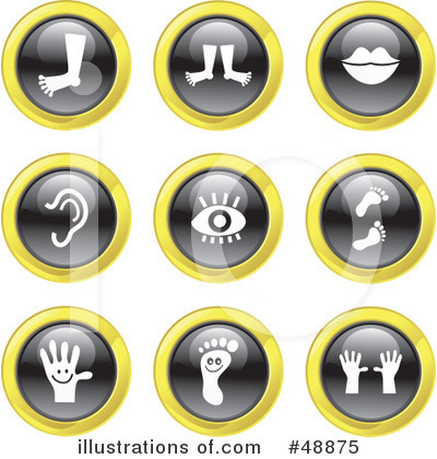 Royalty-Free (RF) Icons Clipart Illustration by Prawny - Stock Sample #48875