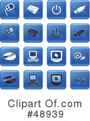 Royalty-Free (RF) Icons Clipart Illustration #48939