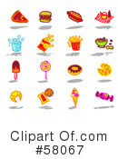 Royalty-Free (RF) Icons Clipart Illustration #58067