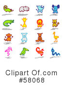 Royalty-Free (RF) Icons Clipart Illustration #58068
