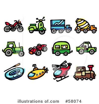 Scooter Clipart #58074 by NL shop