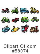 Royalty-Free (RF) Icons Clipart Illustration #58074