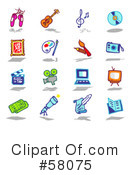 Royalty-Free (RF) Icons Clipart Illustration #58075