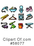 Royalty-Free (RF) Icons Clipart Illustration #58077