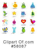 Royalty-Free (RF) Icons Clipart Illustration #58087