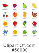 Royalty-Free (RF) Icons Clipart Illustration #58090