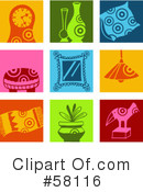 Royalty-Free (RF) Icons Clipart Illustration #58116