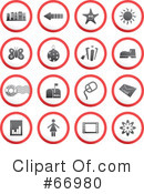 Royalty-Free (RF) Icons Clipart Illustration #66980
