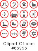 Royalty-Free (RF) Icons Clipart Illustration #66996