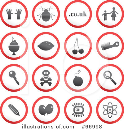 Royalty-Free (RF) Icons Clipart Illustration by Prawny - Stock Sample #66998