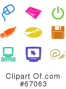 Royalty-Free (RF) Icons Clipart Illustration #67063