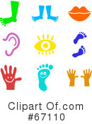 Royalty-Free (RF) Icons Clipart Illustration #67110