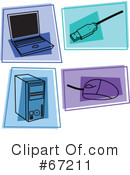 Royalty-Free (RF) Icons Clipart Illustration #67211