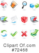 Royalty-Free (RF) icons Clipart Illustration #72468