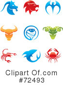 Royalty-Free (RF) Icons Clipart Illustration #72493