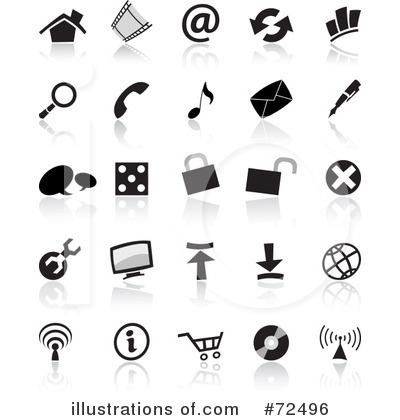 Royalty-Free (RF) Icons Clipart Illustration by cidepix - Stock Sample #72496