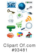 Royalty-Free (RF) Icons Clipart Illustration #93481