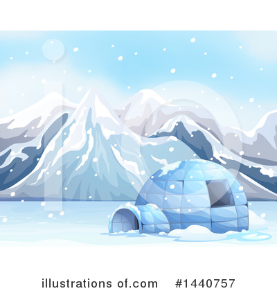 Igloo Clipart #1440757 by Graphics RF
