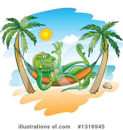 Sun Bathing Clipart #1316945 by Zooco