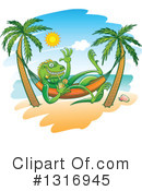 Royalty-Free (RF) Iguana Clipart Illustration #1316945