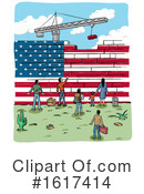 Immigration Clipart #1617414 by Domenico Condello