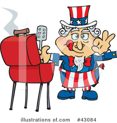 Barbecue Clipart #43084 by Dennis Holmes Designs