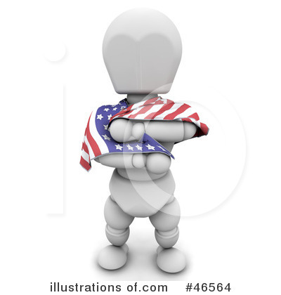American Flag Clipart #46564 by KJ Pargeter