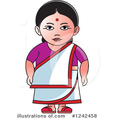 indian woman clipart 1242458 illustration by lal perera rh illustrationsof com clipart woman driving car with girlfriends clipart woman on moped