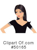Royalty-Free (RF) Indian Woman Clipart Illustration #50165